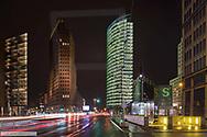 Potsdamer Platz, Berlin, BRD, Nachtaufnahme