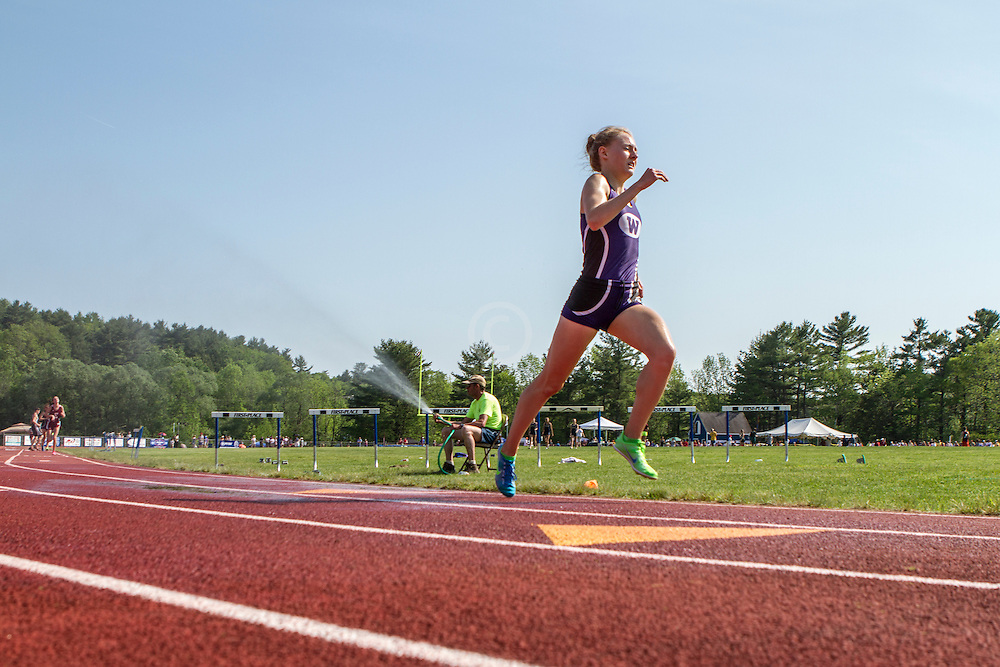 Bethanie Brown, Waterville, senior, girls 3200 meters; Maine State Track & Field Meet - Class B