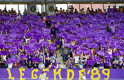 Supporters of Maribor during football match between NK Maribor and APOEL FC, (Cyprus) in Third qualifying round, Second leg of UEFA Champions League 2014, on August 6, 2013 in Stadium Ljudski vrt, Maribor, Slovenia. (Photo by Vid Ponikvar / Sportida.com)