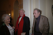 Paul Johnson and Sir John Maddox. The Literary Review's Bad Sex Awards. annual ceremony for authors who write about sex in a 'redundant, perfunctory, unconvincing and embarrassing way. In and Out Club. London.  1 December  2005. ONE TIME USE ONLY - DO NOT ARCHIVE  © Copyright Photograph by Dafydd Jones 66 Stockwell Park Rd. London SW9 0DA Tel 020 7733 0108 www.dafjones.com