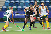 Katie Glynn of New Zealand in action during the bronze medal match between New Zealand and South Africa. Glasgow 2014 Commonwealth Games. Hockey, Bronze Medal Match, Black Sticks Women v South Africa, Glasgow Green Hockey Centre, Glasgow, Scotland. Saturday 2 August 2014. Photo: Anthony Au-Yeung / photosport.co.nz