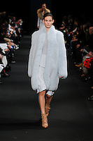 Ophelie Guillermand (WOMEN) walks the runway wearing Altuzarra Fall 2015 during Mercedes-Benz Fashion Week in New York on February 14, 2015