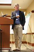 """Darrell Neufer, PhD, Director at the East Carolina Diabetes and Obesity Institute and<br /> professor of physiology and kinesiology at East Carolina University in Greenville, North Carolina, gives a keynote speech titled """"Viewing Diabetes from a Mitochondrial Bioenergetics Perspective"""" in Nelson Commons on Saturday, November 14, 2015. Photo by Kaitlin Owens"""