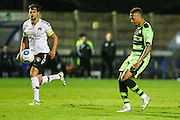 Forest Green Rovers Keanu Marsh-Brown(7) shoots at goal during the Friendly match between Weston Super Mare and Forest Green Rovers at the Woodspring Stadium, Weston Super Mare, United Kingdom on 11 October 2016. Photo by Shane Healey.
