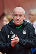 Nottingham Forest manager Mark Warburton during the EFL Sky Bet Championship match between Nottingham Forest and Burton Albion at the City Ground, Nottingham, England on 21 October 2017. Photo by Richard Holmes.