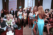 Bay Garnett and Emma Forrest. Playboy's rooftop lounge party. Playboy mansion. Fifth Ave. New York.2/7/99. New York. © Copyright Photograph by Dafydd Jones 66 Stockwell Park Rd. London SW9 0DA Tel 020 7733 0108 www.dafjones.com