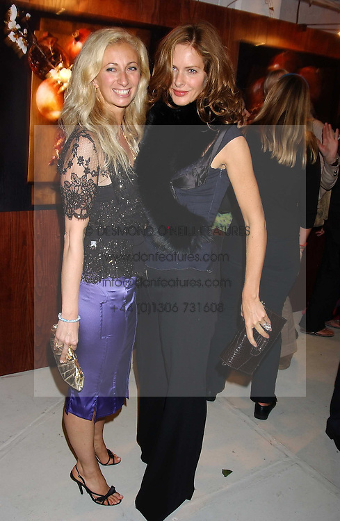 Left to right, JENNY HALPERN and TRINNY WOODALL at a party hosted by Jo Malone - Pomegranate Noir, held at The Vinyl Factory, 45 Foubert's Place, London W1 on 15th September 2005.<br /><br />NON EXCLUSIVE - WORLD RIGHTS