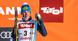 28.01.2017, Casino Arena, Seefeld, AUT, FIS Weltcup Nordische Kombination, Seefeld Triple, Siegerehrung, 2. Tag, im Bild Samuel Costa (ITA, 3. Platz) // 3rd placed Samuel Costa of Italy // celebrates on Podium after the 2nd Day of the FIS Nordic Combined World Cup Seefeld Triple at the Casino Arena in Seefeld, Austria on 2017/01/28. EXPA Pictures © 2017, PhotoCredit: EXPA/ JFK