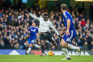Romelu Lukaku of Everton takes a shot at goal during the Barclays Premier League match between Chelsea and Everton at Stamford Bridge, London, England on 16 January 2016. Photo by Salvio Calabrese.