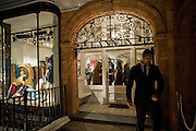 LANVIN SHOP WINDOW AND ENTRANCE. The Launch of the Lanvin store on Mount St. Presentation and cocktails.  London. 26 March 2009