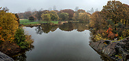 Turtle Pond on a misty day in Central Park