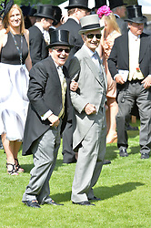 Willie Carson and Lester Piggot at The Investec Derby, Epsom, Surrey England. 3 June 2017.<br /> Photo by Dominic O'Neill/SilverHub 0203 174 1069 sales@silverhubmedia.com