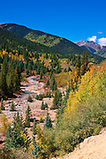 Fall color on the San Juan Skyway (Highway 550) near Silverton, San Juan National Forest, Colorado