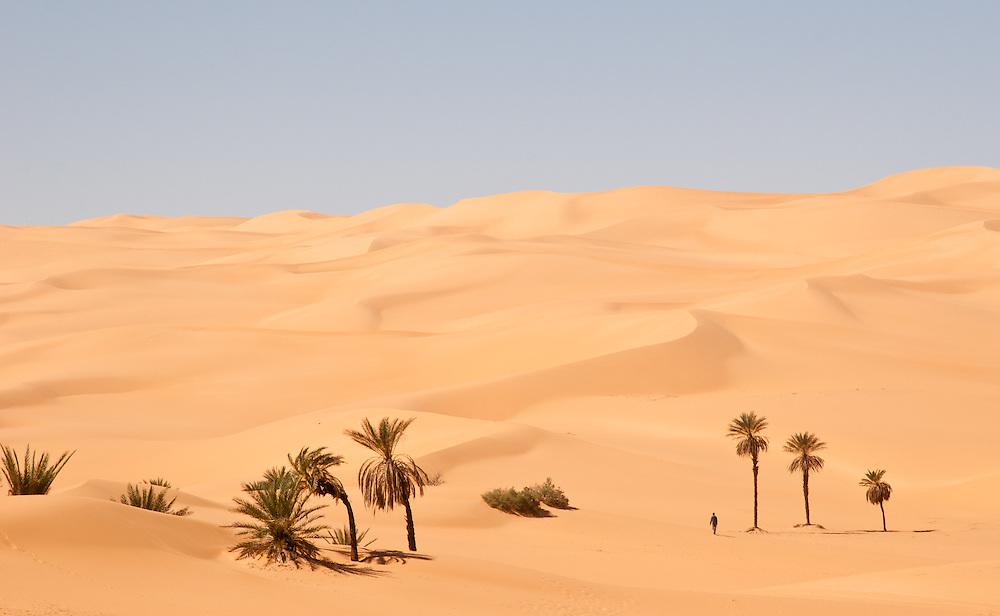 Ubari Sand Sea near Umm al-Maa Lake, Libya