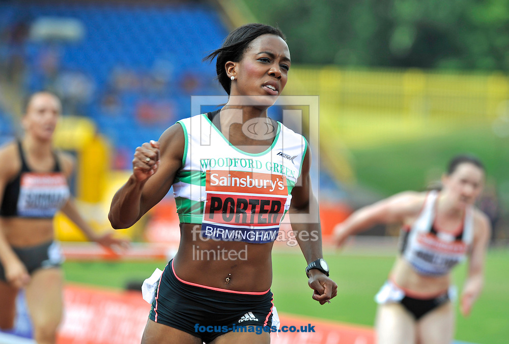 Picture by Alan Stanford/Focus Images Ltd +44 7915 056117<br /> 12/07/2013<br /> Tiffany Porter (GBR)  pictured winning the 100m Hurdles final during day two of Sainsbury's British Championship at Alexander Stadium, Birmingham.