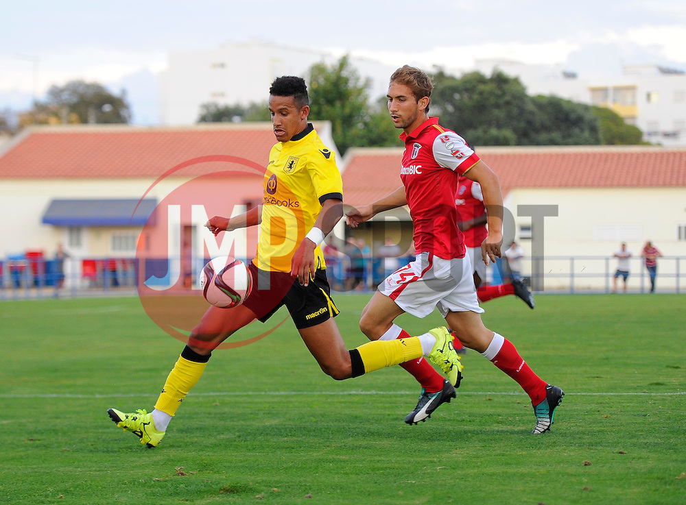 Aston Villa's Callum Robinson  - Photo mandatory by-line: Joe Meredith/JMP - Mobile: 07966 386802 - 17/07/2015 - SPORT - Football - Albufeira - Estadio Da Nora - Pre-Season Friendly