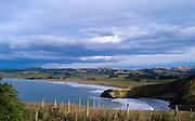 View of Katiki Beach from Katiki Point, Otago, New Zealand; June, 2013