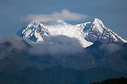 Ecuador, May 18 2010: View of summit of Antisana volcano from road near Wild Sumaco. Copyright 2010 Peter Horrell