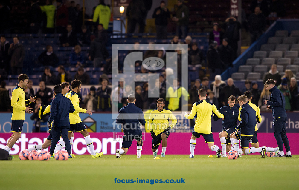 Tottenham Hotspur players warm up before the FA Cup match at Turf Moor, Burnley<br /> Picture by Russell Hart/Focus Images Ltd 07791 688 420<br /> 05/01/2015