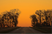 COuntry road at dawn<br /> Swift Current<br /> Saskatchewan<br /> Canada