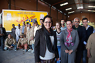 Morocco, Marrakech , Mme Berdai CEO of a Wheat mill