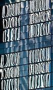 Reflections in office building windows, Seattle, Washington