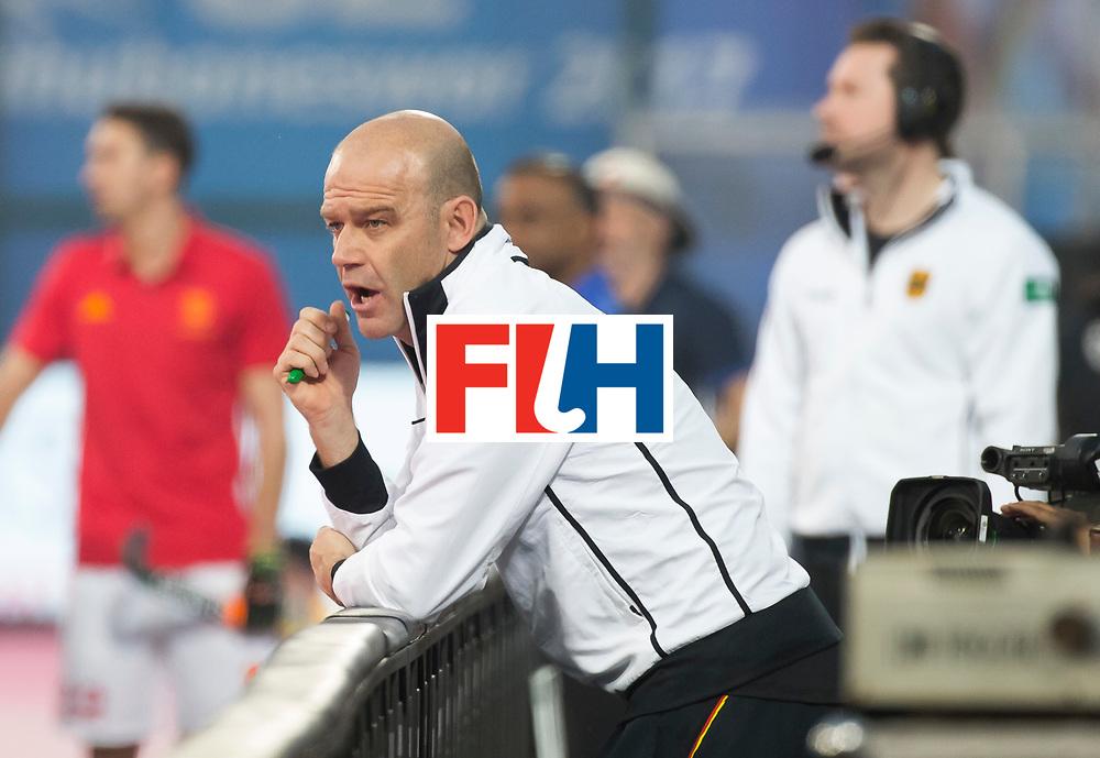 BHUBANESWAR - The Odisha Men's Hockey World League Final . Match ID 01 . Germany v England (2-0). Eric Verboom, assistent coach Germany.  .WORLDSPORTPICS COPYRIGHT  KOEN SUYK