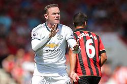 Wayne Rooney of Manchester United gestures - Rogan Thomson/JMP - 14/08/2016 - FOOTBALL - Vitality Stadium - Bournemouth, England - Bournemouth v Manchester United - Premier League Opening Weekend.