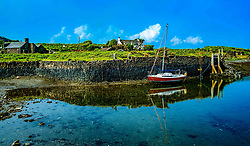 The tiny harbour on Easdale Island.  Easdale Island, the smallest permanently-inhabited island of the Inner Hebrides, Scotland<br /> <br /> (c) Andrew Wilson | Edinburgh Elite media