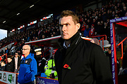 Exeter City manager Matt Taylor during the EFL Sky Bet League 2 match between Exeter City and Cheltenham Town at St James' Park, Exeter, England on 16 November 2019.