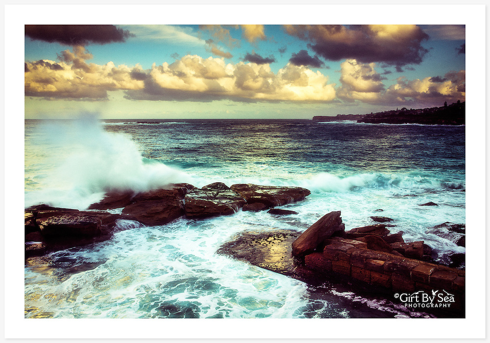 Late afternoon overlooking Giles Baths at the northern end of Coogee Beach, Sydney [Coogee, NSW]<br /> <br /> To purchase please email orders@girtbyseaphotography.com quoting the image number PB305023, and your preferred print size. You will receive a quick reply recommending print media options to best suit your chosen image, plus an obligation-free quotation. Current standard size prices are published on the Pricing page.