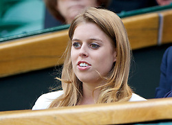 02.07.2014, All England Lawn Tennis Club, London, ENG, WTA Tour, Wimbledon, im Bild Beatrice Windsor (Princess of York) during the Ladies' Singles Quarter-Final match on day nine // during the Wimbledon Championships at the All England Lawn Tennis Club in London, Great Britain on 2014/07/02. EXPA Pictures © 2014, PhotoCredit: EXPA/ Propagandaphoto/ David Rawcliffe<br /> <br /> *****ATTENTION - OUT of ENG, GBR*****