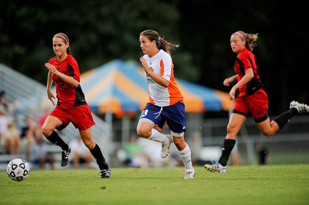 Sept. 15, 2012; Morrow, GA, USA; Clayton State women's soccer player Natalia Valentine against the Flagler at CSU. Photo by Kevin Liles/kdlphoto.com