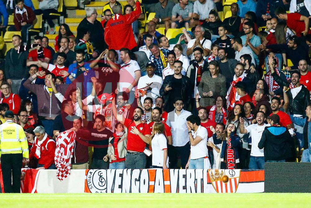 Sevilla fans celebrate Vitolo of Sevilla goal, Sevilla1-0 Watford - Mandatory by-line: Jason Brown/JMP - Mobile 07966 386802 31/07/2015 - SPORT - FOOTBALL - Watford, Vicarage Road - Watford v Sevilla - Pre-Season Friendly
