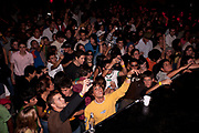 CROWD OF HAPPY CLUBBERS YELLOW JUMPER
