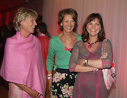 Left to right, MRS SIMON SLATER, MRS CATHERINE SOAMES and MRS JOHN LORIMER at the annual Laurent Perrier Pink Party held at The Sanderson Hotel, Berners Street, London on 27th April 2005.<br /><br />NON EXCLUSIVE - WORLD RIGHTS