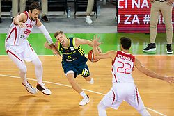 Luka Rupnik of Slovenia during basketball match between National teams of Slovenia and Turkey in Round #8 of FIBA Basketball World Cup 2019 European Qualifiers, on September 17, 2018 in Arena Stozice, Ljubljana, Slovenia. Photo by Urban Urbanc / Sportida