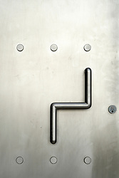 Detail of stainless steel door