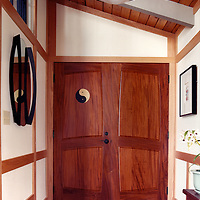 Yin Yang entry door<br /> Custom design and handmade for a home in Pinebrook Hills, Co.