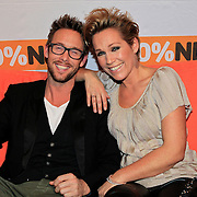 NLD/Hilversum/20130109 - Uitreiking 100% NL Awards 2012, Charly Luske en partner Tanja Jess