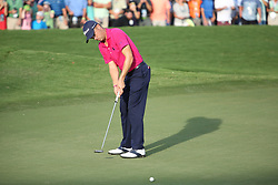 August 13, 2017 - Charlotte, North Carolina, United States - Justin Thomas putts the 18th green during the final round of the 99th PGA Championship at Quail Hollow Club. (Credit Image: © Debby Wong via ZUMA Wire)