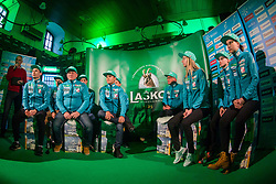 Ski jumpers during press conference of Slovenian Men and Woman national Ski Jumping team, on November 28, 2017 in Pivovarna Union, Ljubljana, Slovenia. Photo by Ziga Zupan / Sportida