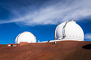 W. M. Keck Observatory on the summit on Mauna Kea, The Big Island, Hawaii USA