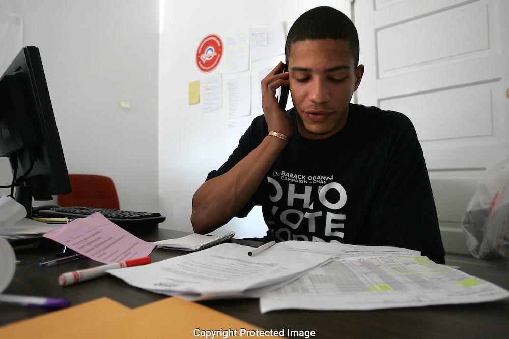 Obama volunteer center .1005 E. Long Street on Election Day Nov.4 2008