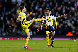 Saido Berahino of West Brom is challenged by Ryan Mason of Tottenham Hotspur - Photo mandatory by-line: Rogan Thomson/JMP - 07966 386802 - 31/01/2015 - SPORT - FOOTBALL - West Bromwich, England - The Hawthorns - West Bromwich Albion v Tottenham Hotspur - Barclays Premier League.