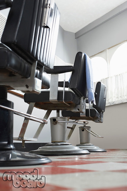 Barbers chairs in a row
