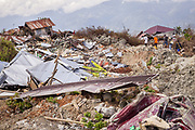 Petobo, a village that was swallowed by a sinkhole or Liquefaction triggered by an earthquake of 7.5 earthquake magnitude that hit off the coast of Donggala, Palu Sulawesi Central, Indonesia on Sept. 28th.  About 1,700 houses were buried by mud.
