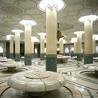 Hassan II Mosque, Ablution Room - Casablanca, Morocco.