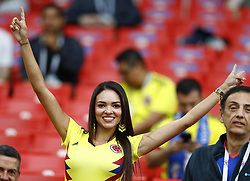 July 3, 2018 - Moscow, Russia - Round of 16 England v Colombia - FIFA World Cup Russia 2018.Colombia supporter at Spartak Stadium in Moscow, Russia on July 3, 2018. (Credit Image: © Matteo Ciambelli/NurPhoto via ZUMA Press)