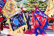 2-11-2014 - SEOUL - King Willem Alexander and Queen Maxima meet president Park during Official welcome ceremony at the Cheong Wa Dae palace. 	<br /> during a during a 2 days State visit of king Willem-alexander and queen Maxima to South Korea . COPYRIGHT ROBIN UTRECHT